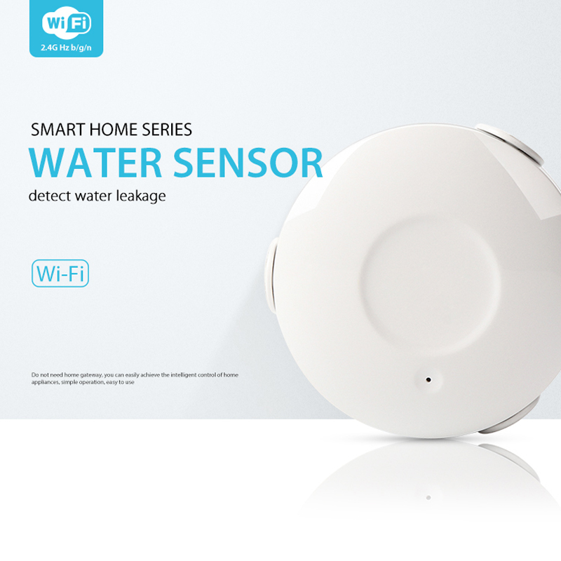 Smart Water Sensor WiFi , Water Flood Wi-Fi And Leak Detector Alarm Sensor And App Notification Alerts Without Host App Control