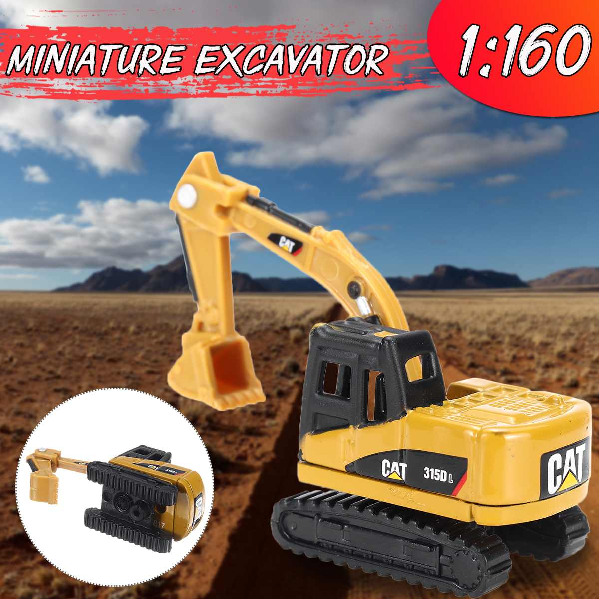 1:160 Construction Vehicle Miniatures Excavator Mini Engineering Truck Model Toys For Children Boy Gift