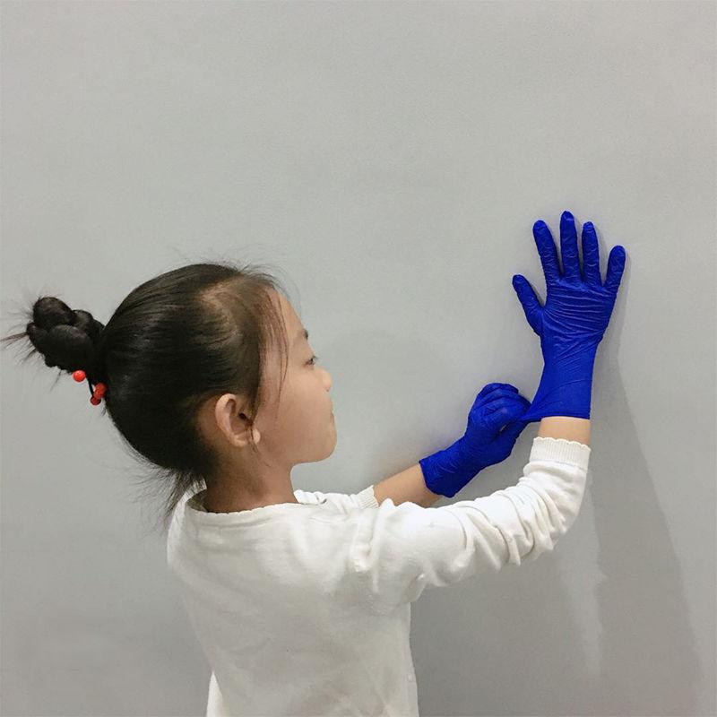 100 PCS Disposable Children Nitrile Gloves Food Grade Kids PVC Rubber Latex Gloves Boy Girl Housework Small Size