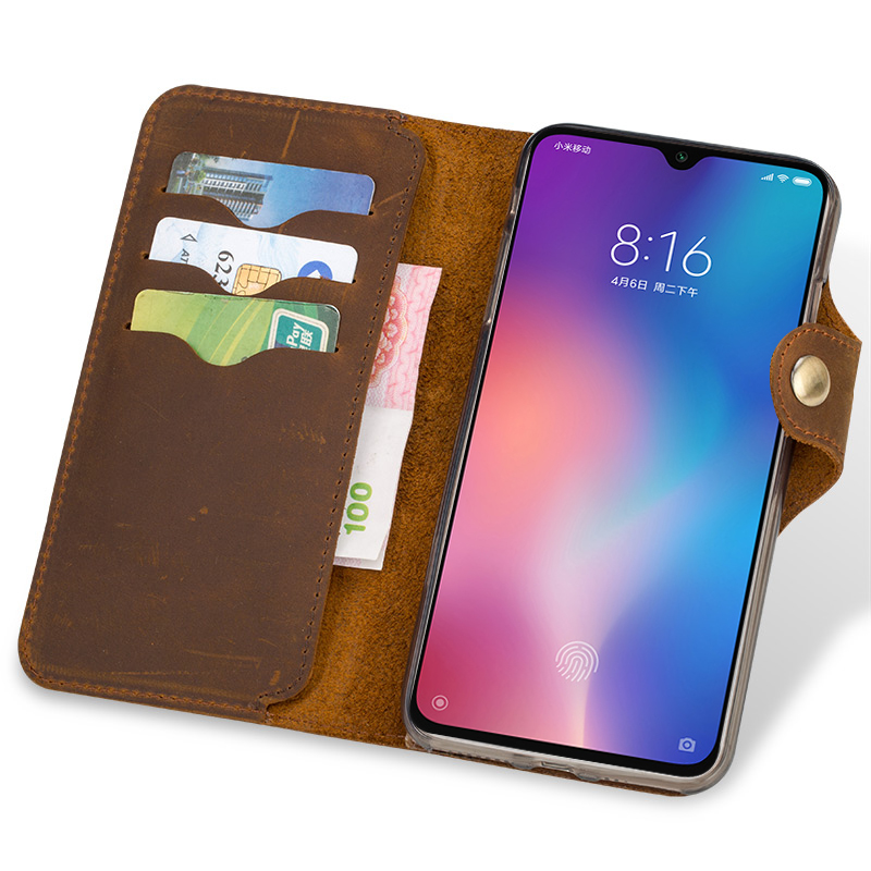 Image 3 - Phone Case For Xiaomi 5s 8 9 9T A1 A2 A3 Lite Max 3 Mix 2s 3  Natural Genuine Leather Cover For Redmi Note 4 4X 5 6A 7 7A ProFlip  Cases