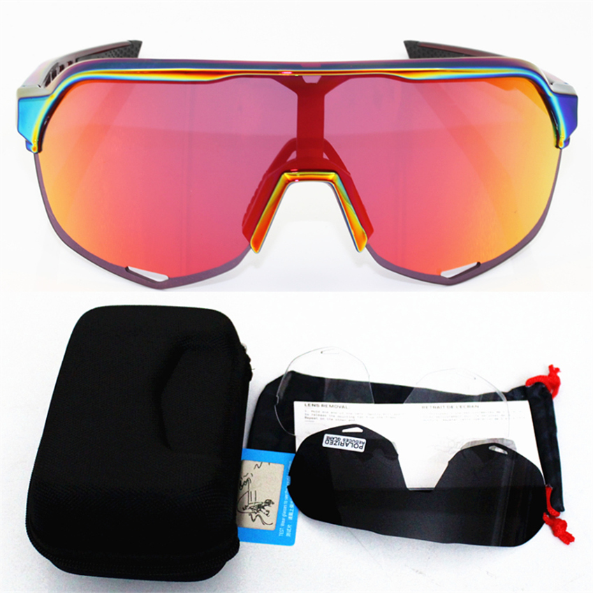 Brand S2 S3 3 Lens Polarized Outdoor Sports Bike Bicycle Sunglasses Gafas MTB Cycling Glasses Eyewear Peter Goggles Eyeglass