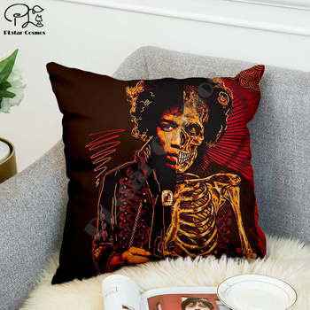 Rock singer Bob Marley/The Hillbilly Cat Hip Hop Pillow Case Polyester Decorative Pillowcases Throw Pillow Cover Square style-7 image
