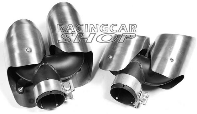 Stainless Steel Exhaust Pipe Dual Muffler 4Tips A Pair for Porsche Macan 2014UP T055W 4