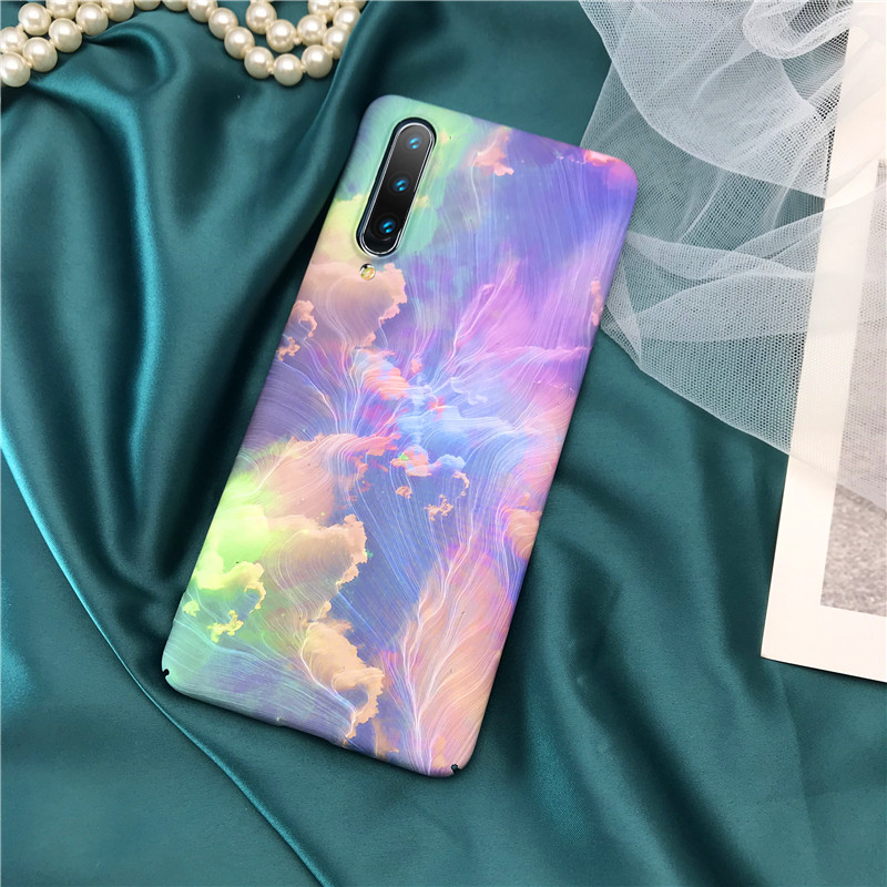 3D Relief Matte Case for Xiaomi Mi 10 9 SE Mi 8 Note 7 8 Pro Case Moon Stars Floral Ink Painting PC Cover for Xiaomi Mi9 Funda