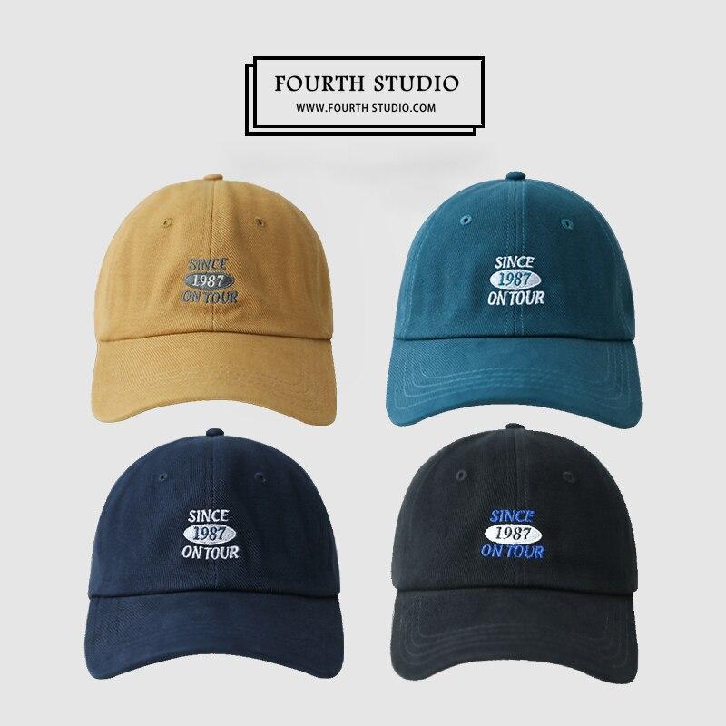 Бейсбольная кепка для студентов, Женская Корейская уличная мягкая Кепка с вышивкой, Мужская Всесезонная универсальная солнцезащитная Кепк...