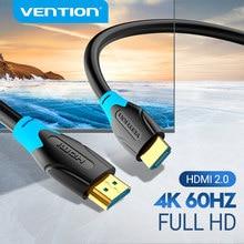 Vention hdmi cabo 4k ultra hdr banhado a ouro macho para macho hdmi 2.0 4k 60hz para ps3/4 projetor tv caixa portátil monitor cabo hdmi