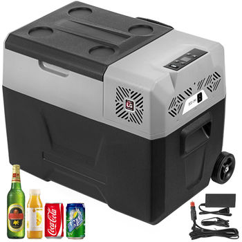 55L Compressor Portable Small fridge 12V DC and 110V AC Car Refrigerator Freezer Vehicle Car Truck RV Boat Mini Electric Cooler