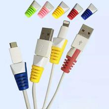 8 pcs cable winder organizer Cable Protector Saver Cover for Apple Android Charging Cable Random For iPhone Xiaomi