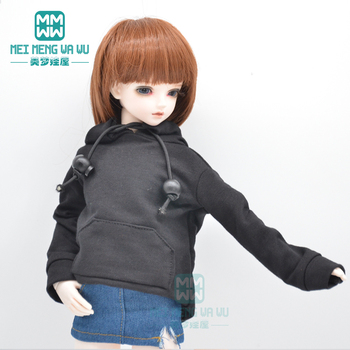 BJD doll clothes for 1/4 1/6 BJD MSD YOSD doll fashion Letter sweatshirt, denim skirt [wamami] 50 white chest op sweater tight knitwear for 1 4 msd dod bjd girl doll
