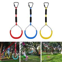 3PCS Swing Bar Rings Children Outdoor Gymnastic Ring Ninja Obstacle Course Kit Climbing Wall Accessories Kids Physical Training