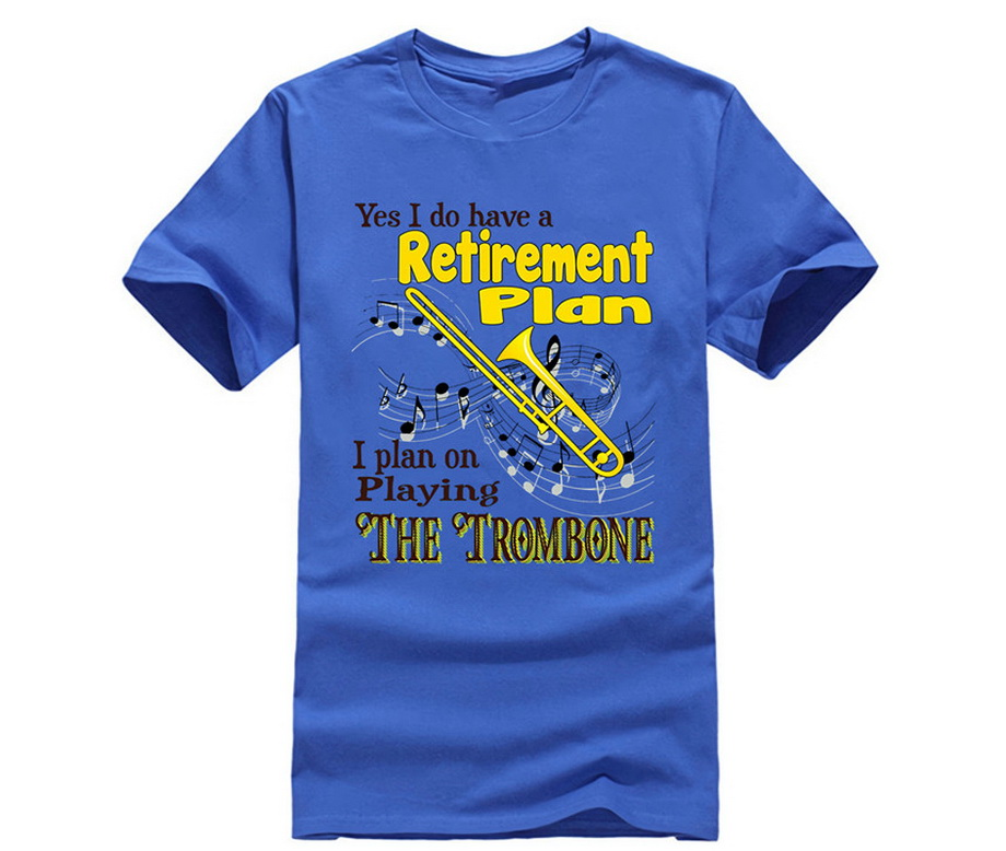 I Have A Retirement Plan Trombone Funny Retired Gift T Shirt Oversized image