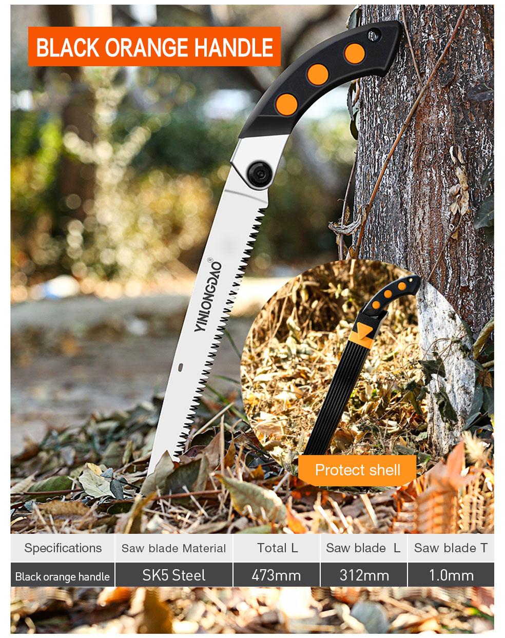 AI-ROAD handsaw black orange handle