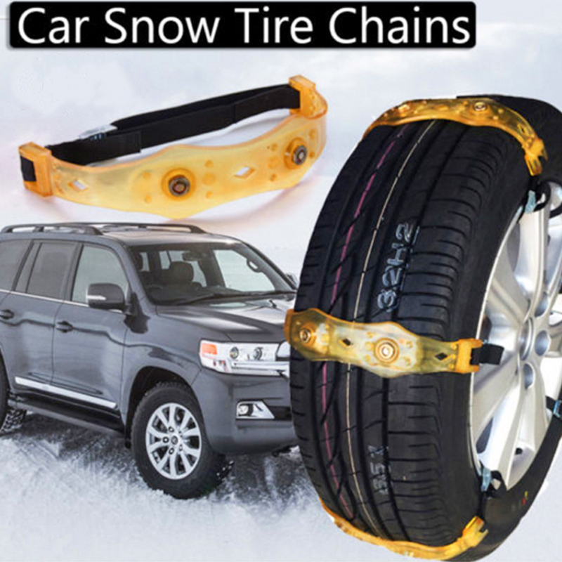 Vehemo TPU Snow Chain Anti-Skid Chains Roadway Safety SUV For Climbing Mud Ground Snow Tire Belt Thickened Truck Winter Driving