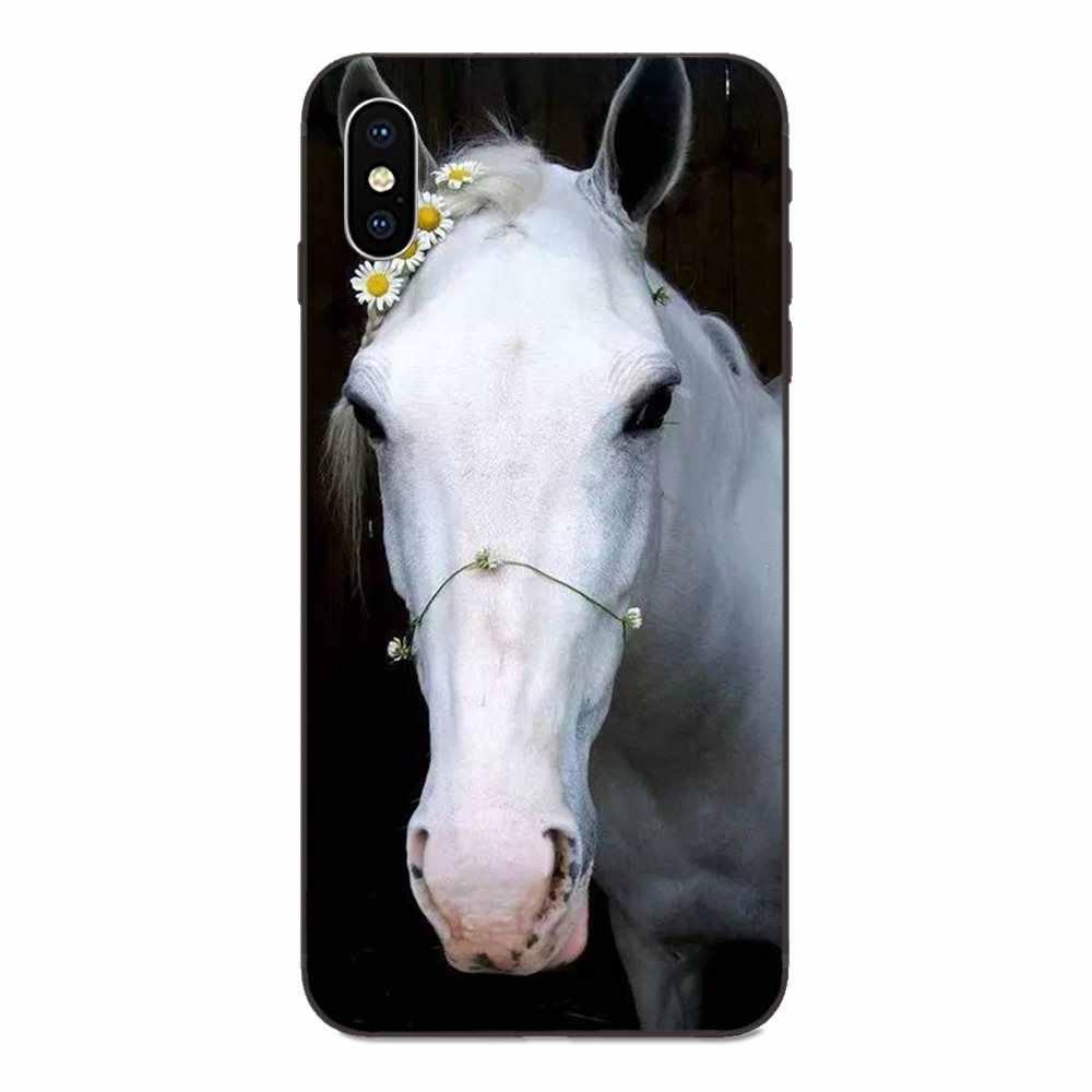 مذهلة الحصان الحيوان طباعة ل ابل اي فون 4 4S 5 5S SE 6 6S 7 8 زائد X XS ماكس XR الجدة Fundas الأسود لينة