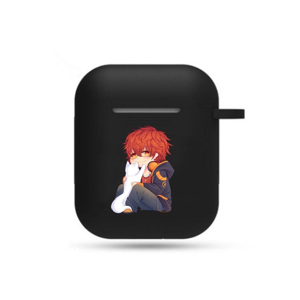 Game Anime Mystic Messenger Earphone Case Cosplay Unisex Airpods Bluetooth Headset Cover Earphone CaseHeadphone Case Props