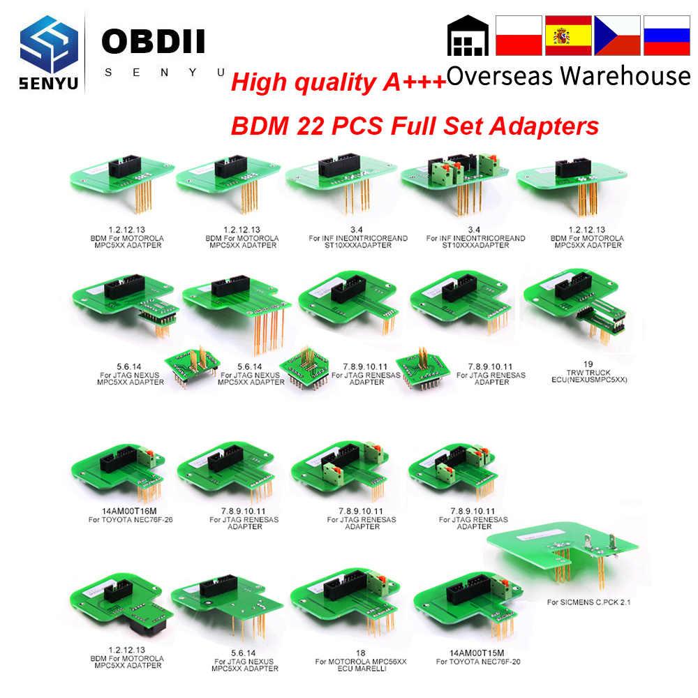 BDM الإطار 22 قطعة محول BDM ECU مبرمج OBD OBD2 سيارة التشخيص السيارات أداة ECU ضبط المتعري تستر ل BDM 100 KTAG KESS V2