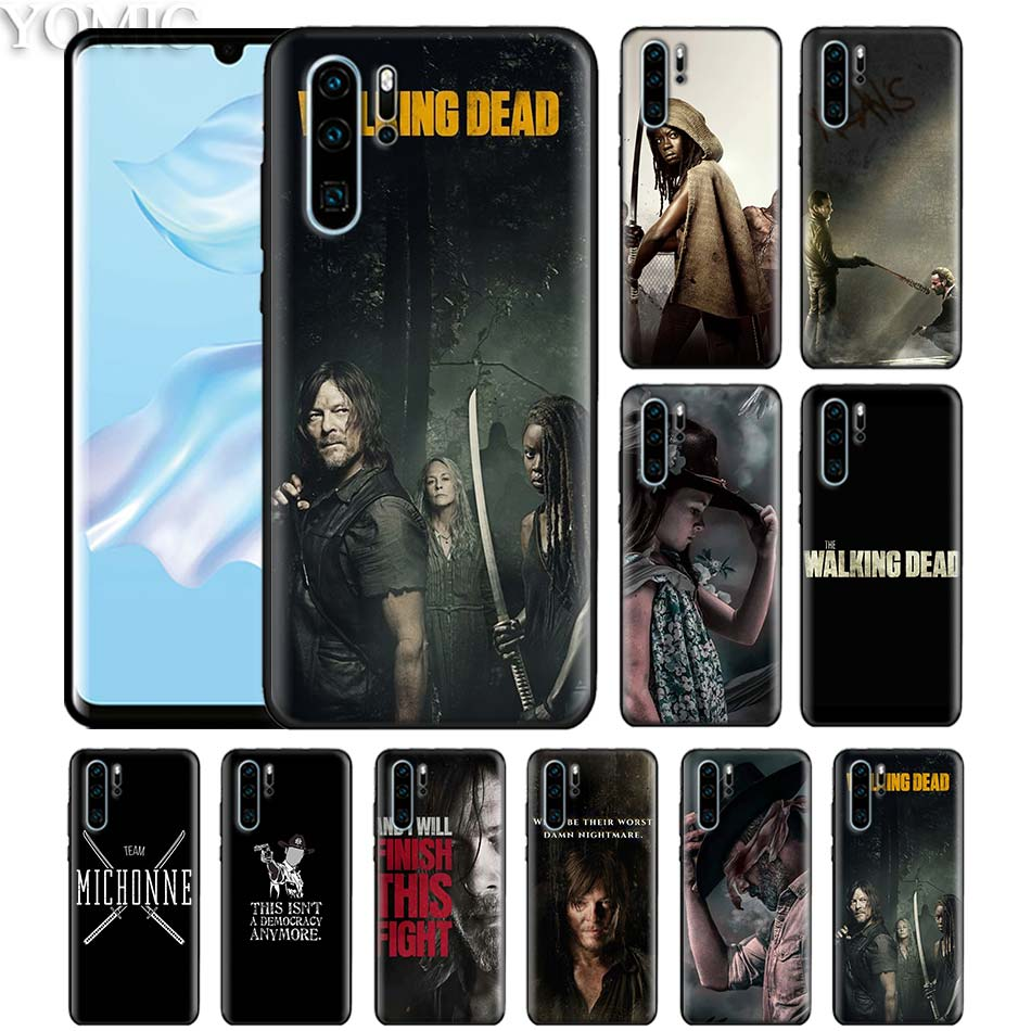 Walking Dead Daryl Dixon Black Case for Huawei P20 <font><b>P</b></font> Smart Z + Plus 2019 P30 P10 P9 Mate 10 20 <font><b>30</b></font> <font><b>Lite</b></font> Pro Silicone Phone Cover image
