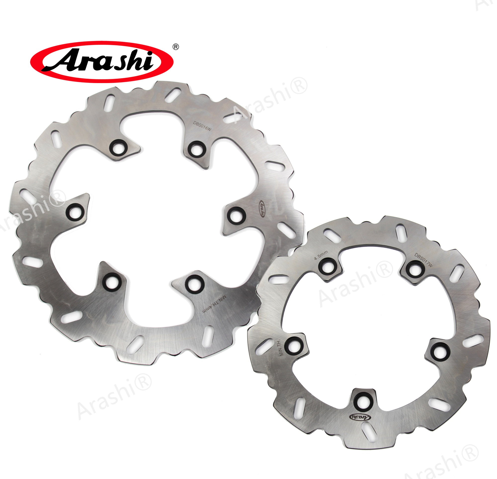 ARASHI For SUZUKI <font><b>AN400</b></font> BURGMAN 400 BARGEMAN 1999 2000 AN250 BURGMAN CNC Front Rear Brake Rotors Brake Disc image