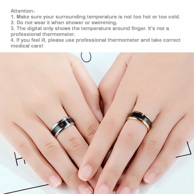 Body Temperature Ring Stainless Steel  4