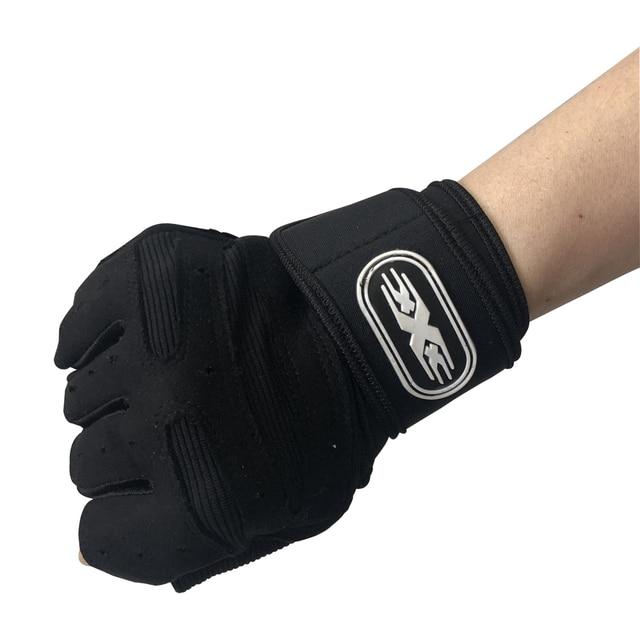 Men Fitness Heavyweight Training Gloves Bodybuilding Half Finger Gloves Non-Slip Extended Wrist Support Weightlifting Sports 3