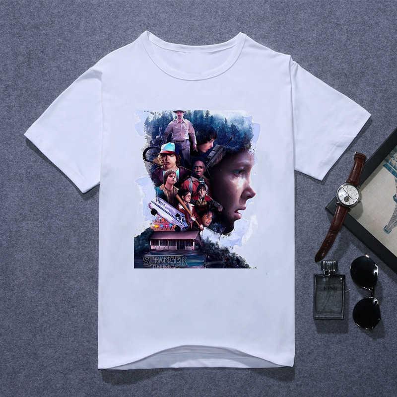 Stranger things 3 camiseta mujer eleven gótica camiseta mujer ropa de verano 2019 hip hop streetwear divertida camiseta geek tops tee