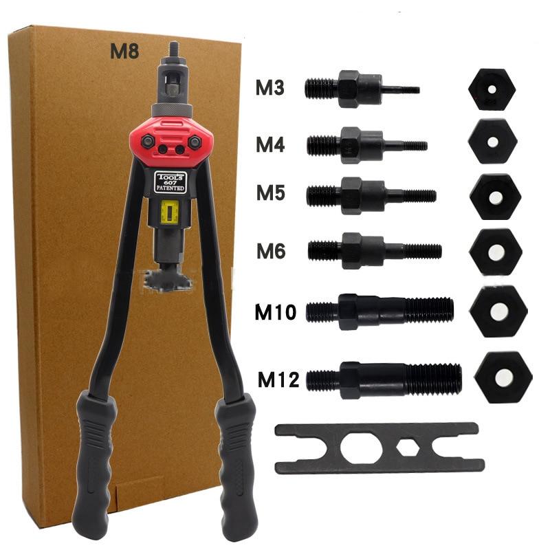 "16"" Manual Riveter Gun Hand Rivet Tool Kit Rivet Nut Setting Tool Nut Setter M3/M4/M5/M6/M8/M10/M12|Riveter Guns|   - AliExpress"