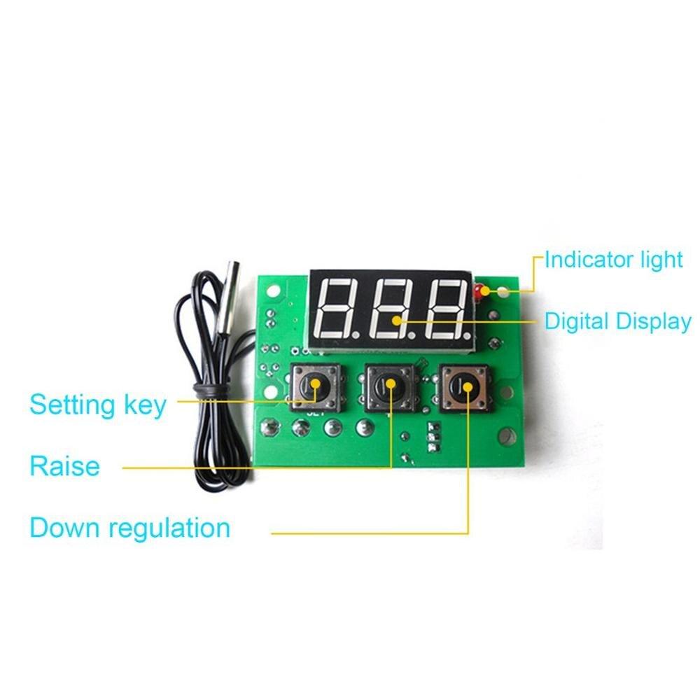 XH-W1601 Professional Digital Temperature Controller DC12V Temperature Controller High Precision PID Temperature Control Board