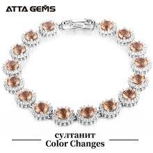 Женские браслеты из серебра 925 пробы с драгоценными камнями