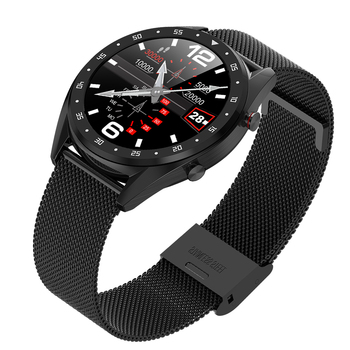 L7 Color Screen Blood Pressure Heart Rate Monitor Smart Watch Pedometer Tracker 1.3inch Screen facebook whatapp  ECG PPG