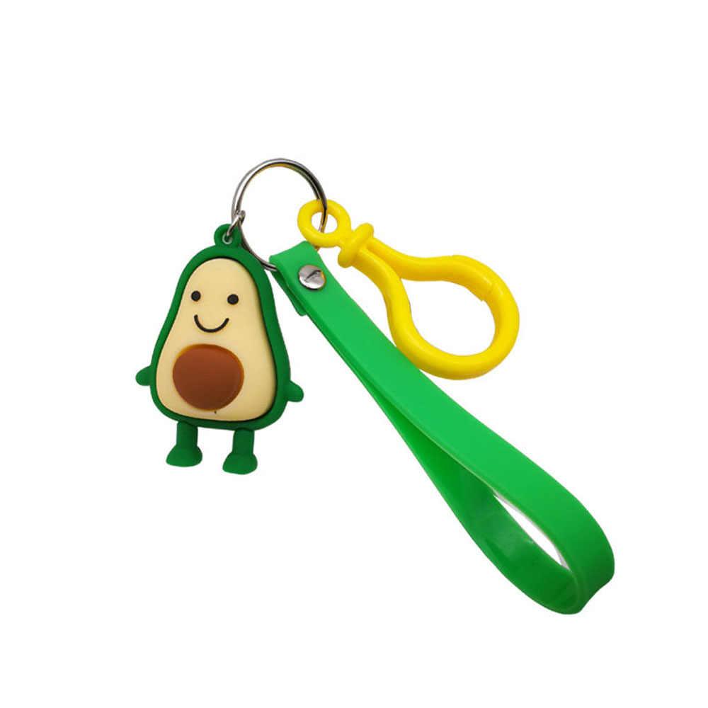 2020 ใหม่แฟชั่นน่ารัก Avocado พวงกุญแจการ์ตูนอีพ็อกซี่ผลไม้ตุ๊กตากระเป๋าจี้ Key แหวนอุปกรณ์เสริมของขวัญสำหรับผู้หญิงผู้ชาย