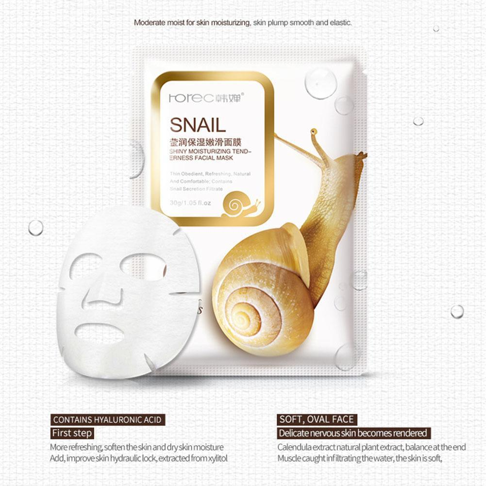 30g Snail Collagen Solution Face Sheet Masks Collagen Firming Hydrating Oil-Control Moisturizing Face Facial Mask Mask Whit N1R5 image