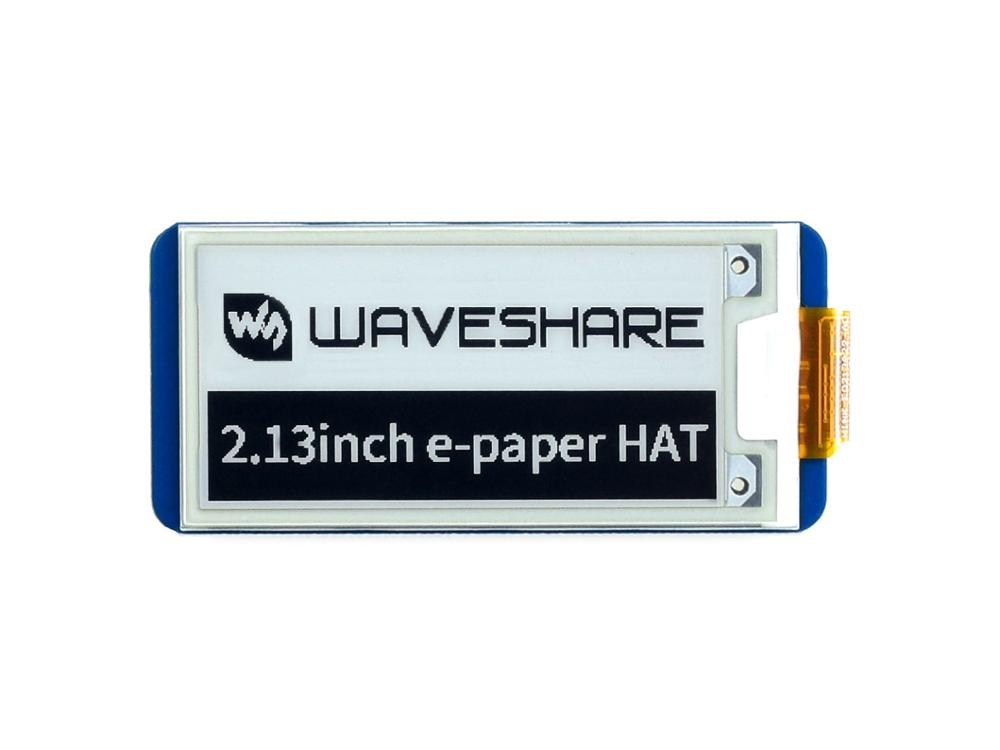 2.13inch E-Paper HAT 250x122 Resolution With Embedded Controller SPI Interface For Raspberry Pi Supports Partial Refresh