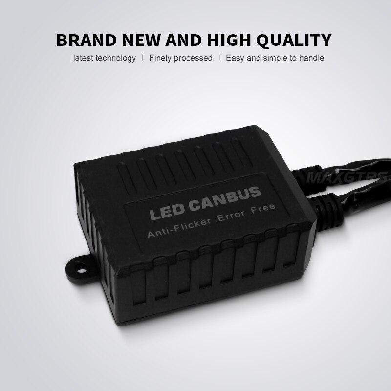 Image 3 - 2x H1 H3 H4 H7 H8 H11 9005 9006 H13 Adapter EMC Warning LED Decoder Canceller Headlight Fog Light IC No Error For BMW For AudiCar Light Accessories   -