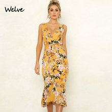 Welve Summer Fashion Sexy Printed Lotus Leaf Dress Suit-dress Printing Lace