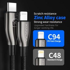 Image 3 - Kuulaa tipo c ao cabo do relâmpago mfi pd usb c cabo para iphone 11 pro max x xs 8 xr tipo de carregamento rápido cabo c para macbook ipad