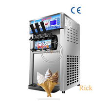 Table-Top Ice-Cream-Maker Soft-Serve Commercial 3-Flavors Mini 1200W