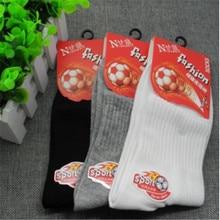 Hot Sale Mens White Black Grey Sports Football Socks Polyester Cotton Breathable Deodorant New Arrive
