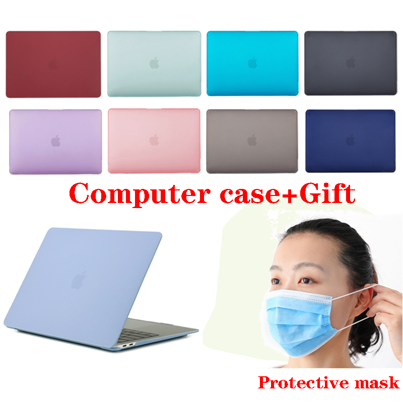 Frosted Crystal Hard Case for MacBook Air 13 Retina Pro 13 15 16 A2141 2019 A2159 with Gift Mask A1466 A1990 A1932