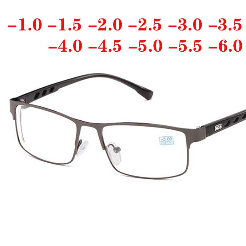-1 -1.5 -2 -2.5 -3 -3.5 -4 -4.5 -5 -6 Finished Myopia Glasses For Women And Men Metal Frame Ultralight Students Myopia Glasses