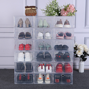 6pcs Plastic Box Storage Transparent Shoes Box Organizer Drawer Modern Organizer Boxes Container Shoes For Storing Boxes Storage