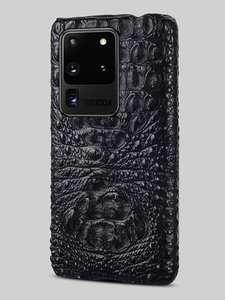 Smartphone A51-Cover Ultra-Note Genuine-Crocodile-Leather Samsung Galaxy S20-Plus 100%Luxury
