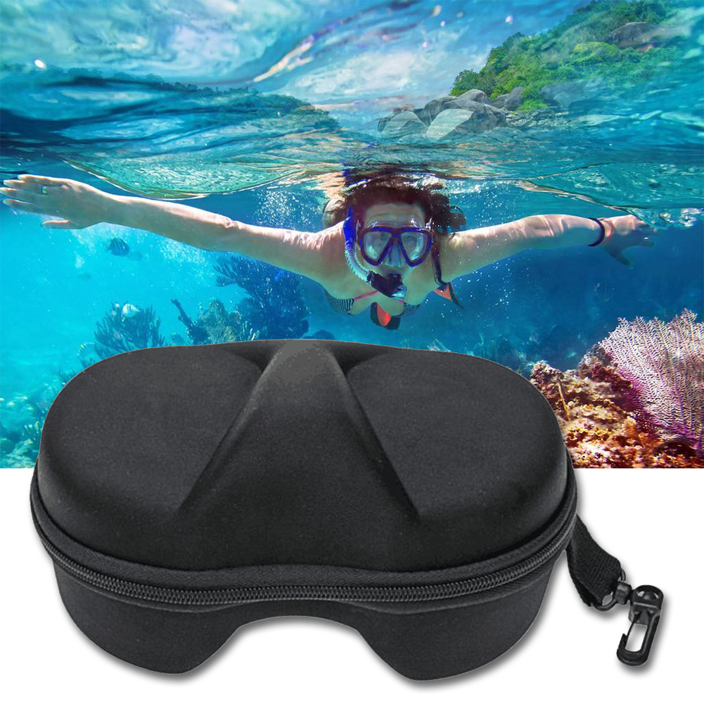 Shock Resistant Underwater Storage EVA Container Snorkeling Diving Glasses Box Waterproof Case Portable Protective For GoPro