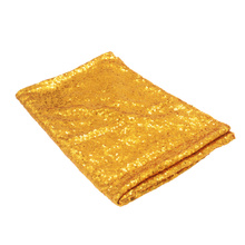 Paillette Table Cloth Round Long Table Cloth Wedding Party Sequins Tablecloth Hotel Paillette Tablecloth (Golden)