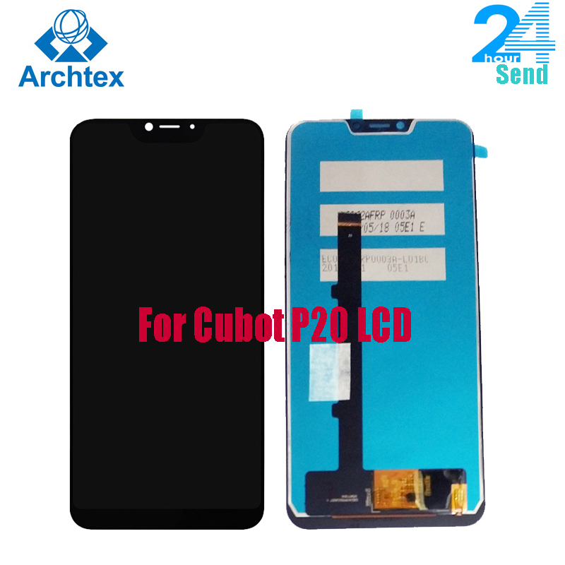 For 100% Original Cubot P20 LCD Display +Touch Screen Screen Digitizer Assembly Replacement 6.18 Inch For New Cubot P20 Tested