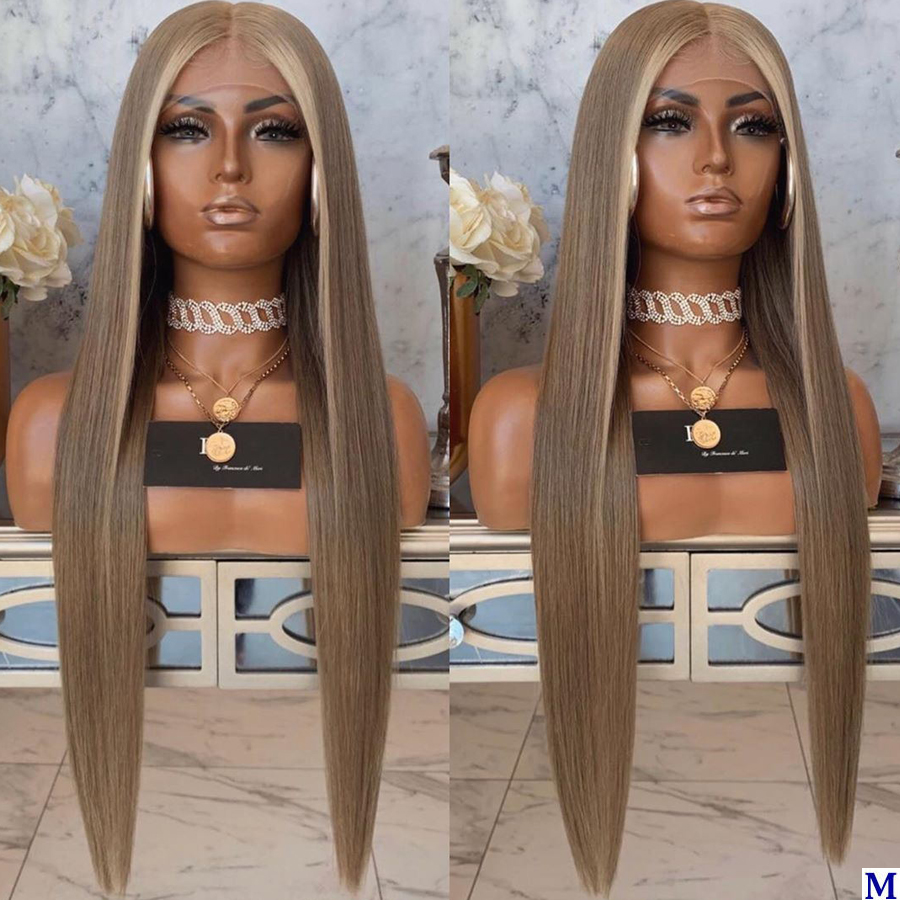 Malaysia Silky Straight Chestnut Full Lace Human Hair Wigs With Baby Hair 180Density 26inches 4x4 Silk Base Lace Front Wigs