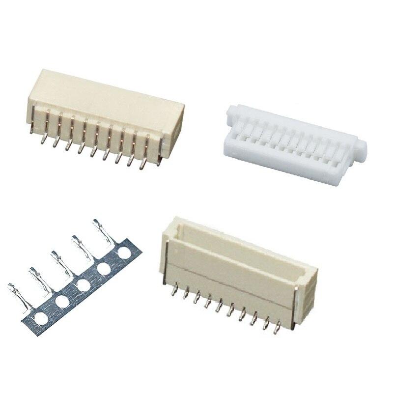 SH1.0 1.0mm Connector Socket SMT Socket Pin Header Vertical Horizontal JST Housing Crimping Terminal 2/3/4/5/6/8/9/10/11/12/14P