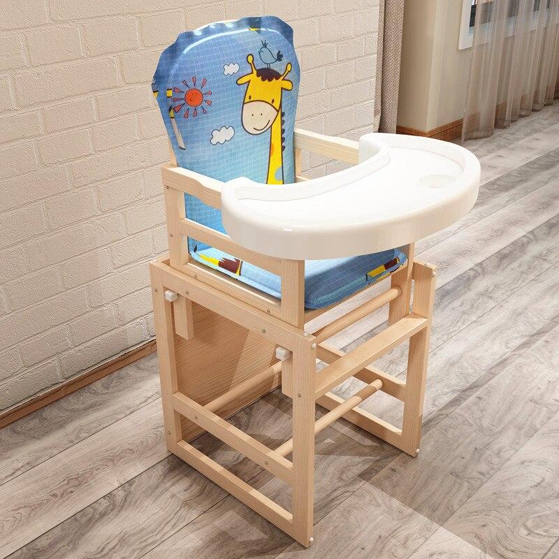 Детское кресло бустер из цельного дерева, многофункциональное детское обеденное кресло, детский стол и стул, регулируемое детское кресло д