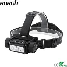 BORUiT B39 XM-L2+2*XP-G2 LED Headlamp Memory Function Headlight 21700/18650 USB TYPE-C Rechargeable Head Torch Camping Hunting
