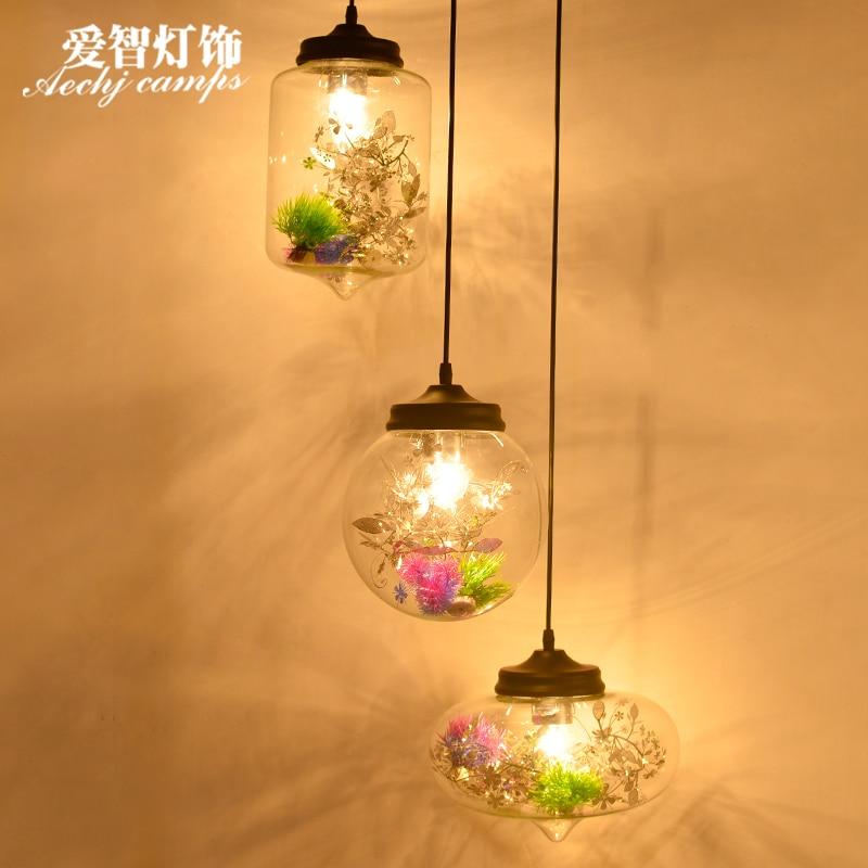 Modern Iron Sieve Pendant Lamp Clear Transparent Glass Industry Design Dinning Room Restaurant Hotel Loft Suspension Light Pendant Lights     - title=