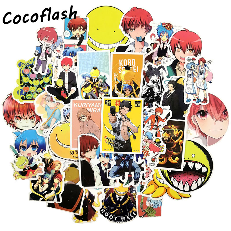 NEW 50Pcs/lot Assassination Classroom Stickers Toys Anime Series Cartoon Sticker Kids Party Gifts For Luggage Decal Pegatina
